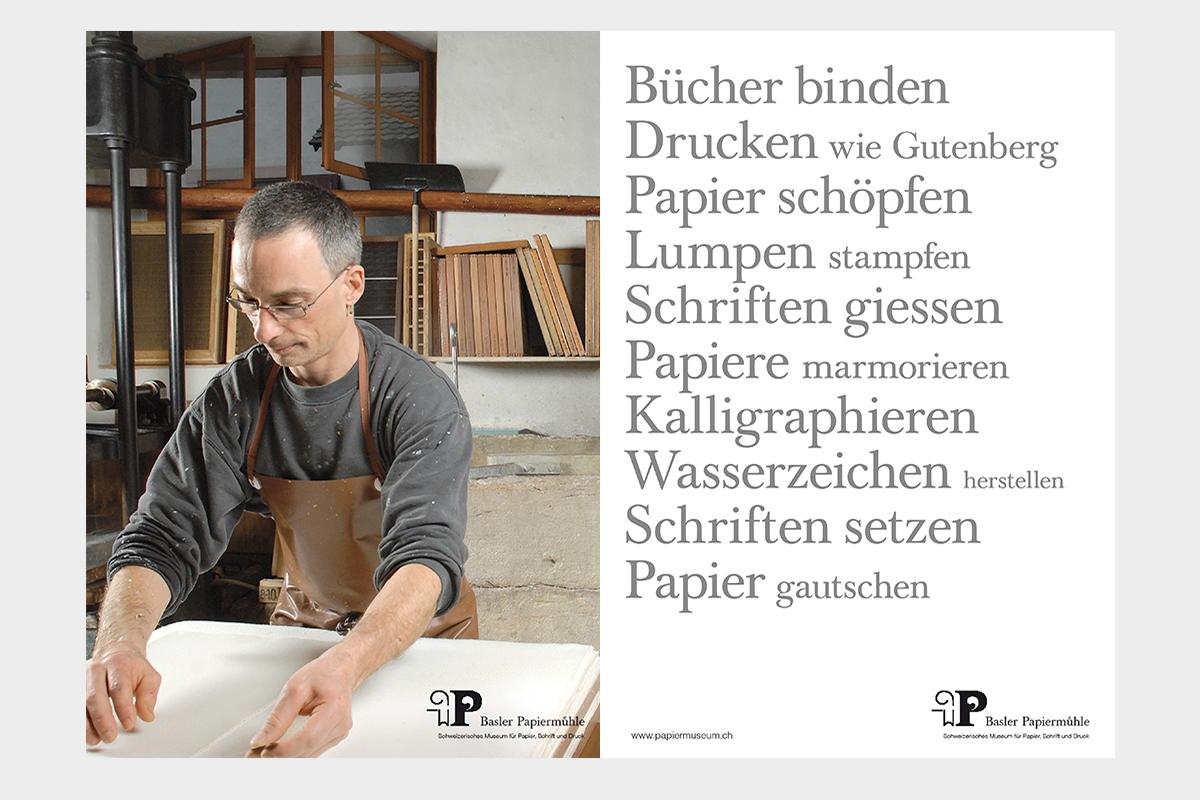 Das Corporate Design der Basler Papiermühle