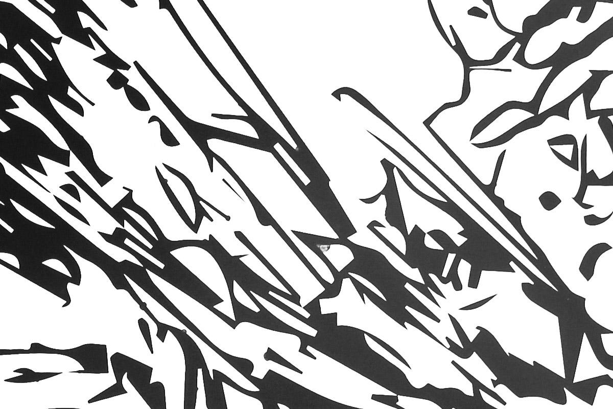 Giant Black Flowers / Serigrafie