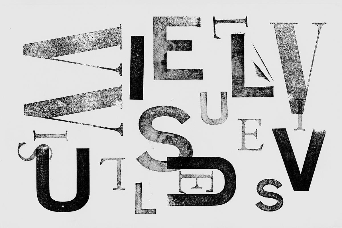 Experiment / Schrift und Stempel